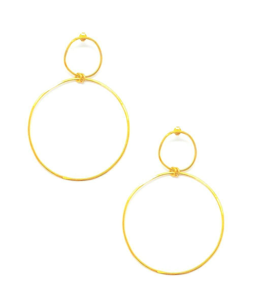 "Earrings duo of golden rings - ""In the Origin"" eloïse fiorentino"