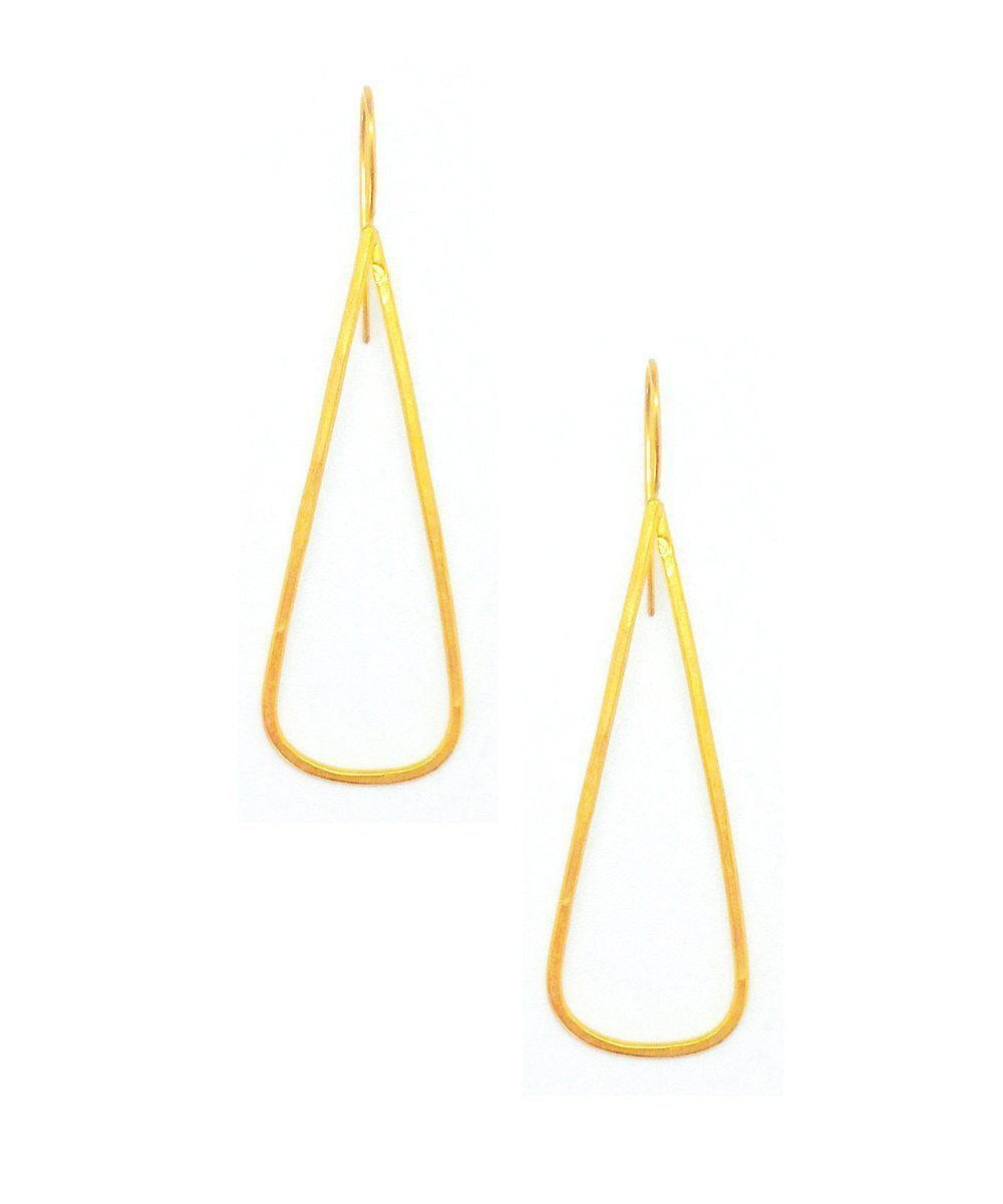 "Earrings golden triangles - ""Astree"" eloïse fiorentino"