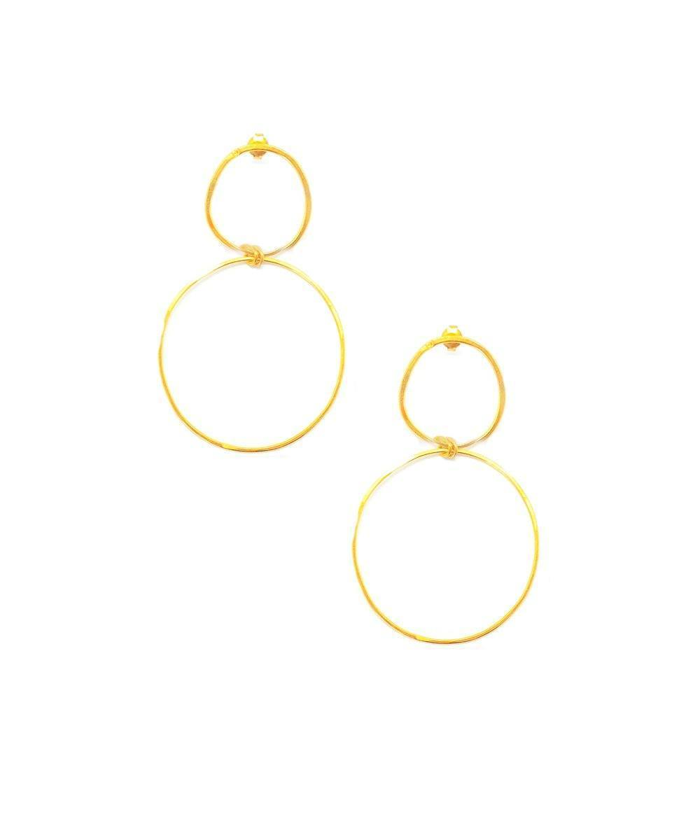 "Earrings Duo Golden Rings Medium - ""At the Origin"" eloïse fiorentino"