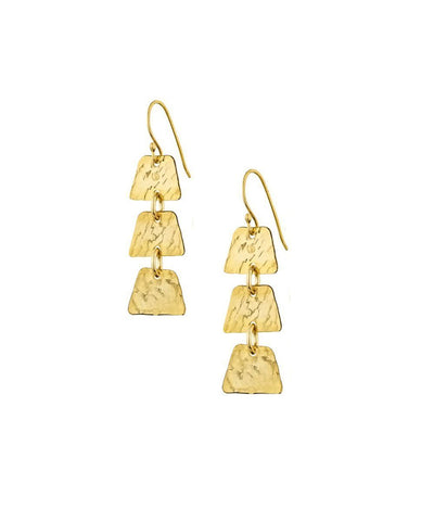 "Hammered trio earrings - ""Elsewhere"" designer Earrings"