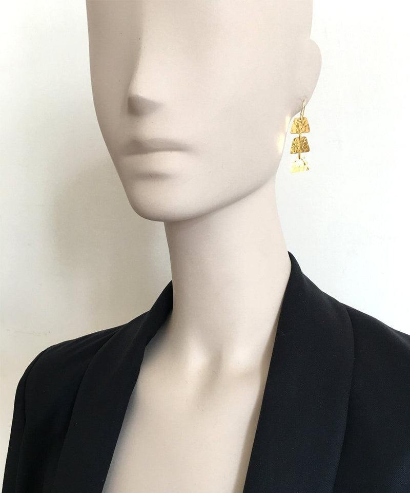 "Trio hammered earrings - ""Elsewhere"" designer Earrings"
