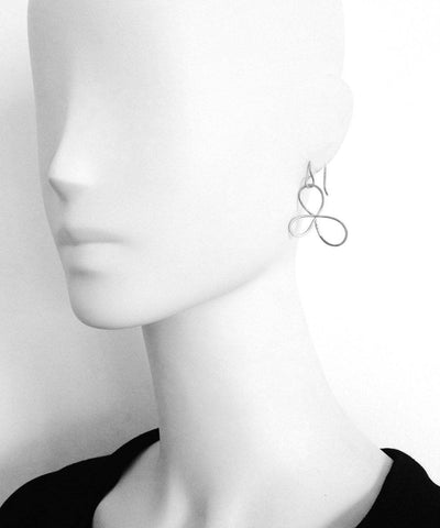 "Eloise firoentino Silver sleep earrings - ""Dreams"" worn"