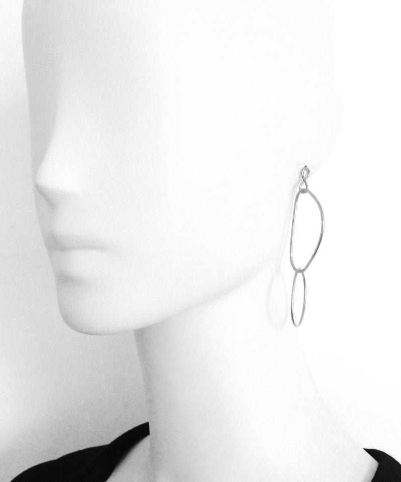 "Silver interlaced earrings - ""Over the water"" creator eloise fiorentino"