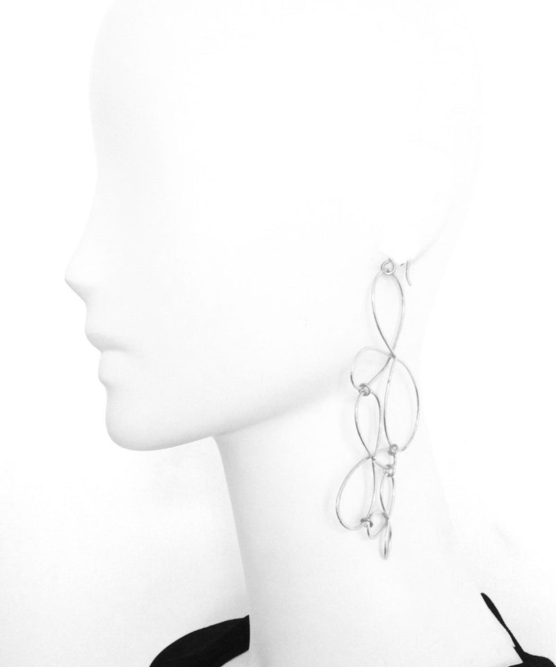 "Eloise fiorentino silver oversize earrings - ""The Dreams"""