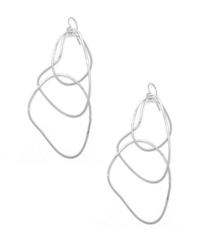 "Trio silver ring earrings - ""Mirages"" eloïse fiorentino"