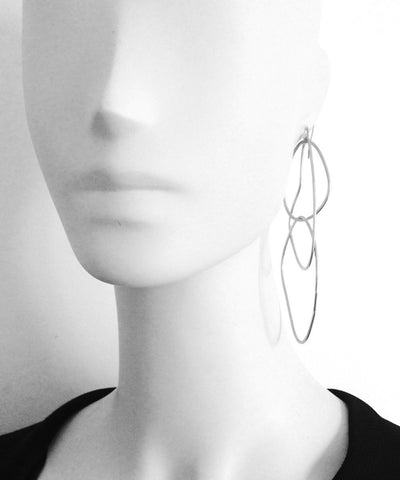 "Trio silver ring earrings - ""Mirages"" eloïse fiorentino worn"