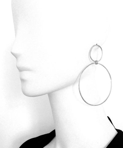"Earrings duo silver rings - ""Origin"" eloïse fiorentino worn 1"