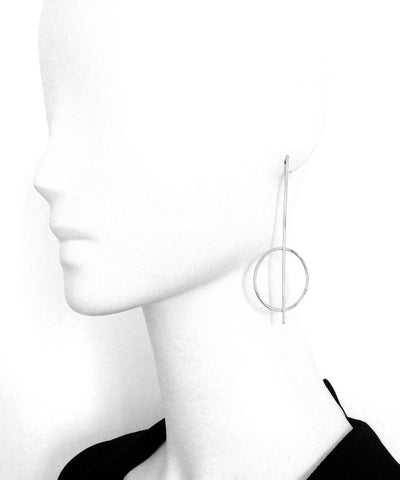 "Silver earrings and ring earrings - ""Constellations"" eloïse fiorentino worn"