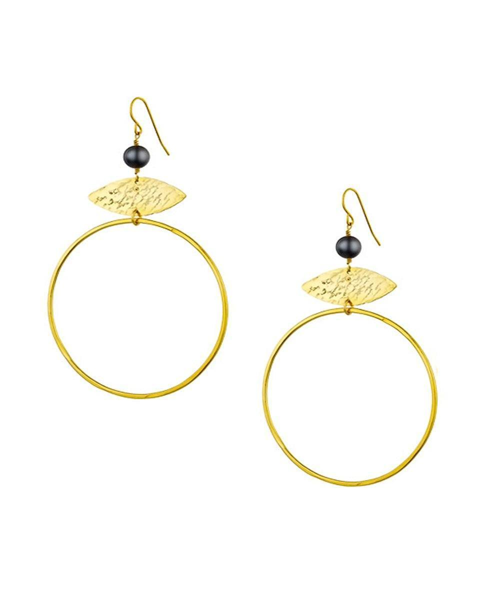 "Gold earrings - ""Gold and pallor"" designer Earrings"