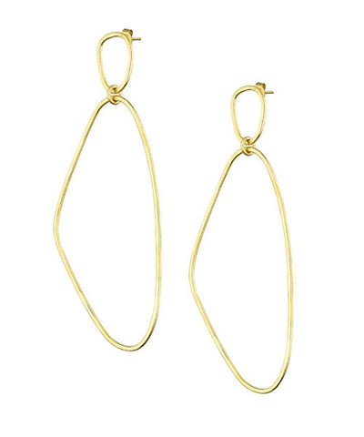 "Simple gold earrings - ""Here"" designer Eloise Fiorentino"