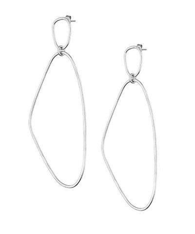 "Eloise Fiorentino-Long Silver Earrings - ""Here"""