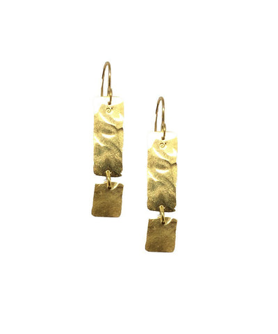 "Hammered Earrings - ""Glacial Area"" eloïse fiorentino"