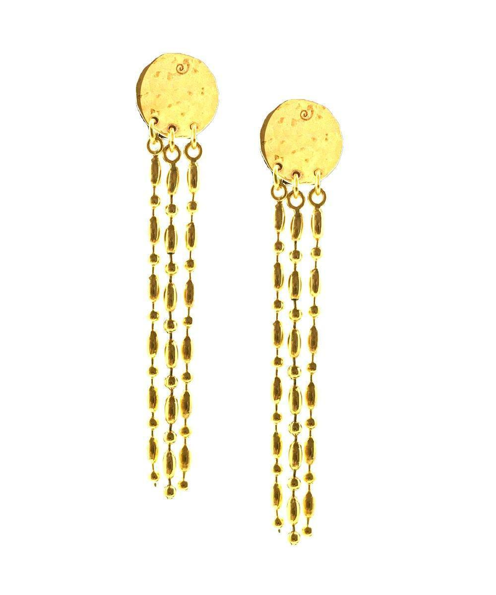 "Earrings golden pastilles gold - ""Comète"" - Eloïse Fiorentino"