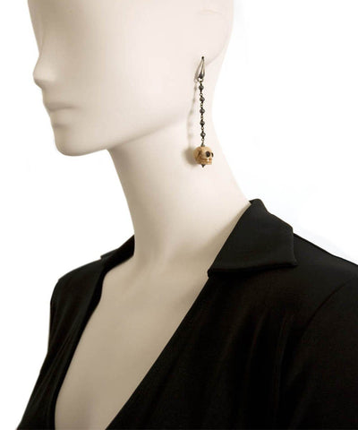 Skull and black hematite earrings Fonsi