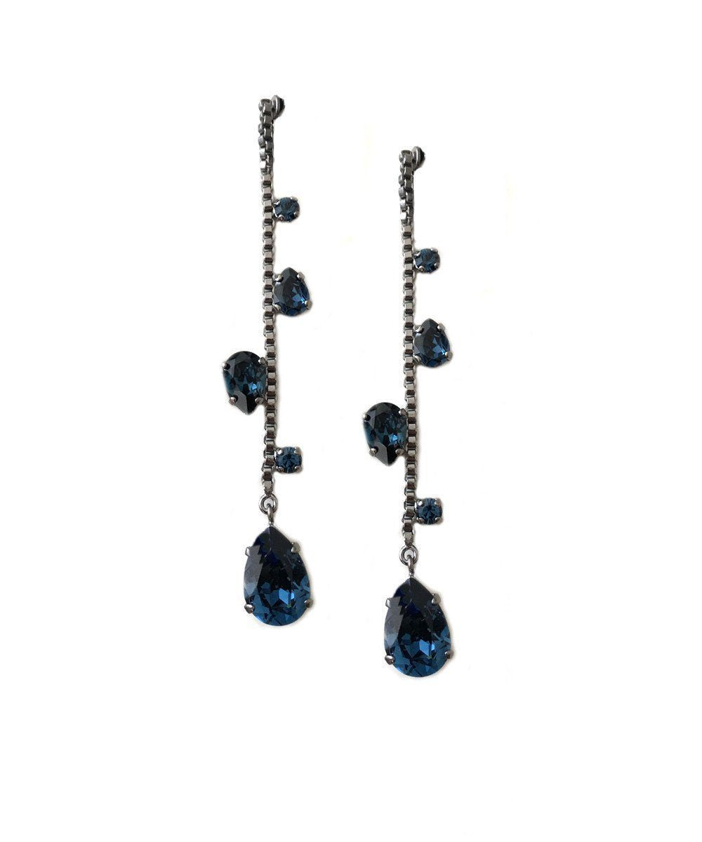 Midnight Swarovski Earrings Designer Earrings