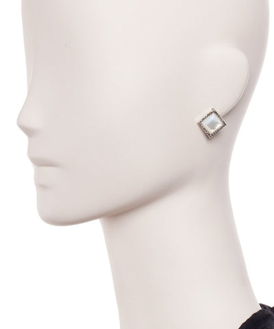 Diamond earrings in mother-of-pearl, marcasites and designer silver Earrings