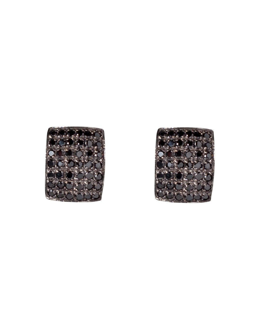 Old style black marcasite earrings - Metron