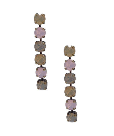 vogline Swarovski pastel crystals earrings pastel designer