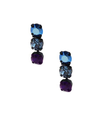 vogline Earrings Swarovski crystals blue creator