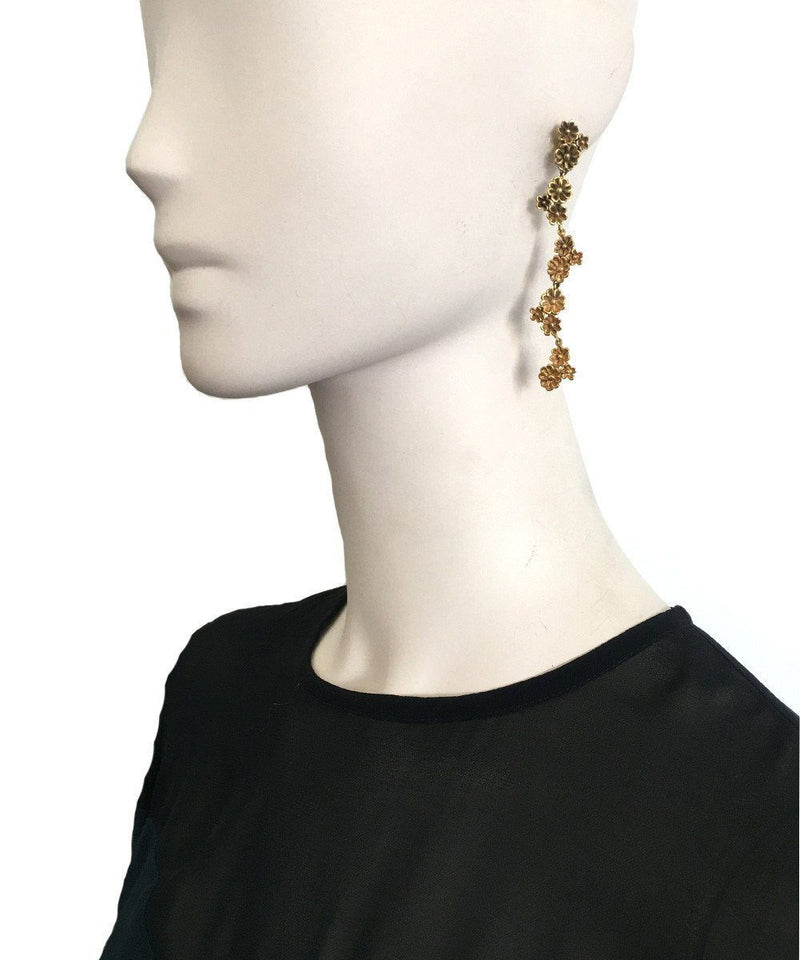 Long Azores gilt bronze earrings - France Thierard