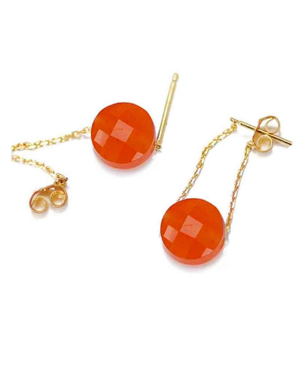 Independence gold earrings and interchangeable stones - Paola zovar