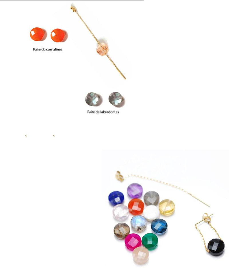 Interchangeable gold garnet gold earrings, Paola Zovar - Paola zovar