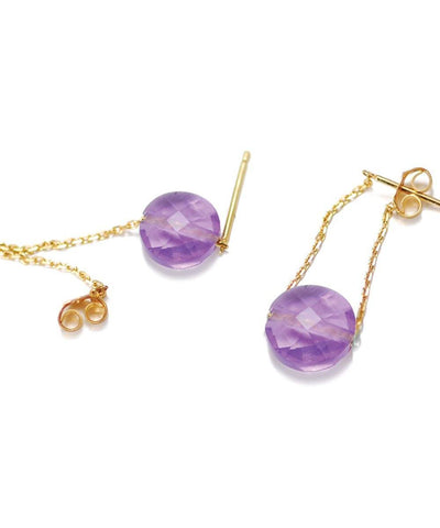 Gold Independence Earrings and Interchangeable Stones Designer Earrings