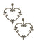 Art deco heart earrings in marcasites and silver art deco designer