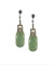 Jade and marcasite pendant earrings