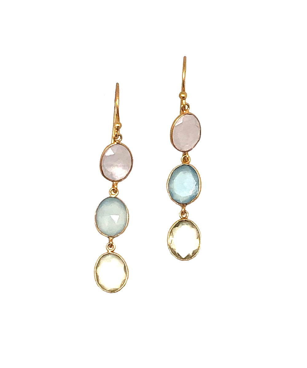 quartz pastel earrings