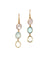 Trio earrings in pink quartz, blue chalcedony, citrine - Editions LESSisRARE Bijoux