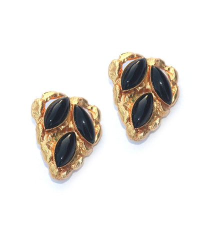 Shuttle heart clip earrings - Black creator Carole saint germes