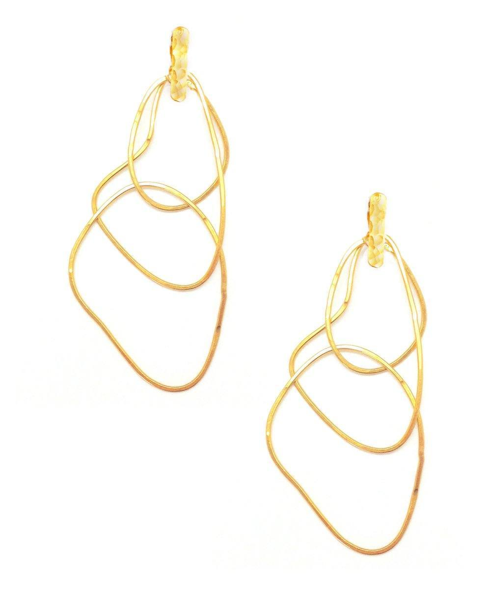 "Trio clip earrings with golden rings - ""Mirages"" - Eloïse Fiorentino"