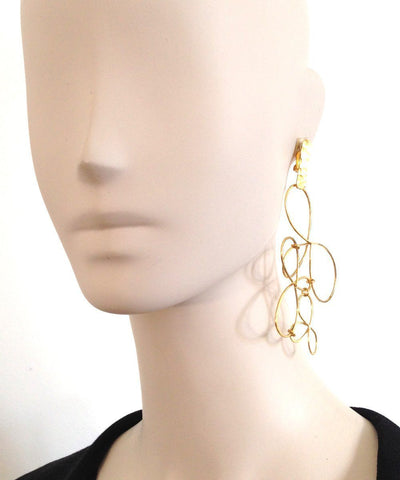 "Eloise Fiorentino - Oversized gold clip earrings - ""The Dreams"""