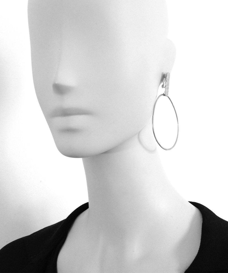 "Silver clip hoop earrings - ""The Dunes"" - Eloïse Fiorentino"