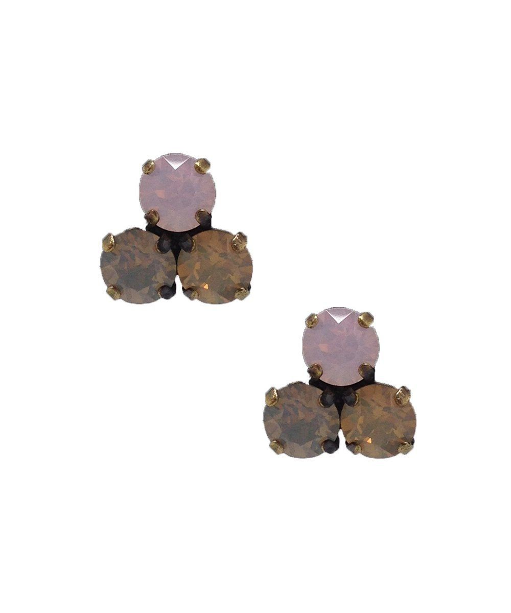 Trio earrings with Swarovski crystals pastel - Vogline
