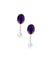 baroque pearl and amethyst earrings Editions LESSisRARE Pearls