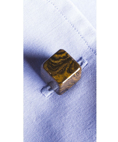 Brown bhome semi precious gemstone cufflinks 1