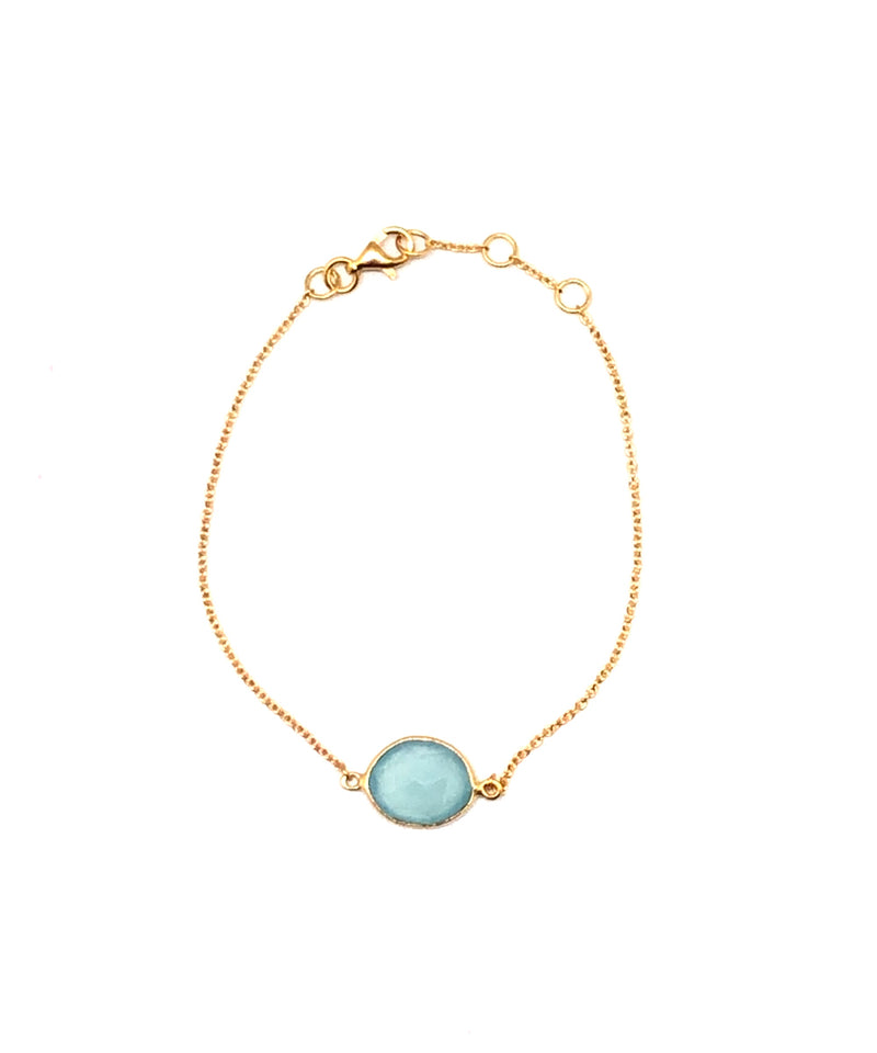 Blue chalcedony bracelet - Editions LESSisRARE Bijoux