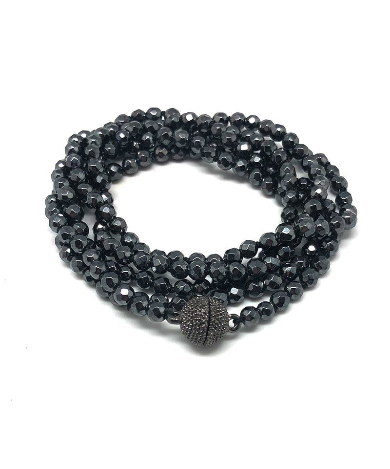 Bracelet of black hematite beads - Fonsi