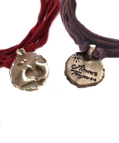 Catherine Michiels Love charm bracelet Always in bronze