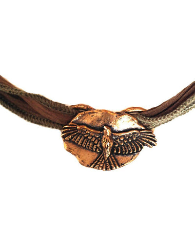 Bracelet charm Eagle Jack bronze catherine michiels
