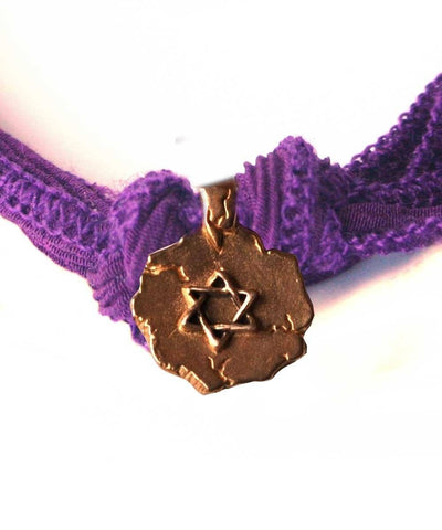Bracelet charm Star of David bronze designer Bracelet
