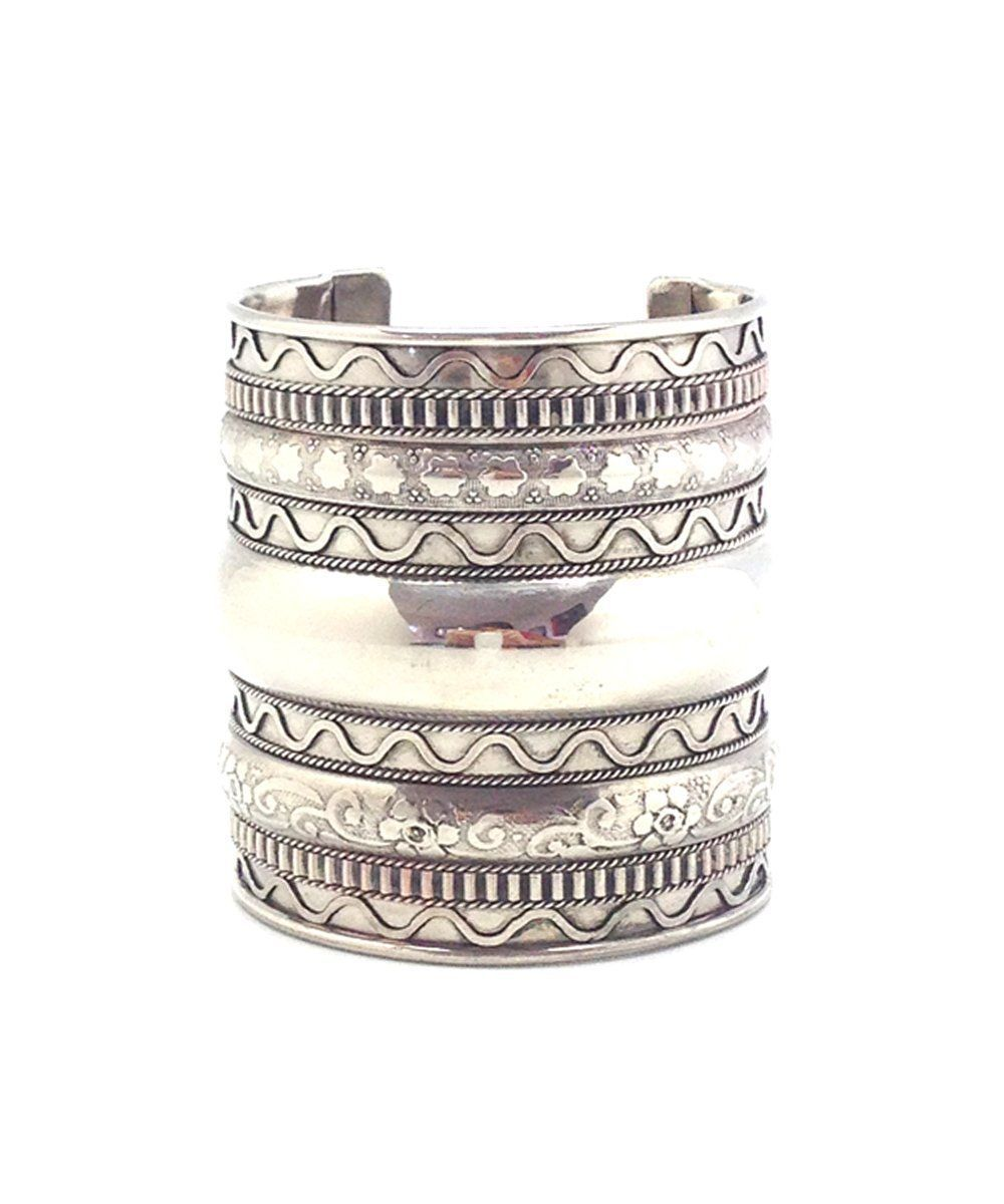 bracelet-bangle-wave-silver-Editions LESSisRARE Jewels