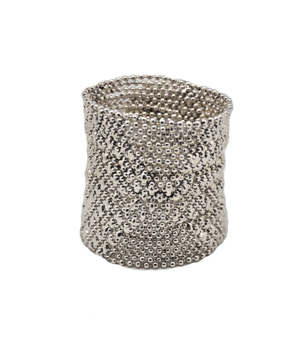 LESSisRARE Editions Jewelry bracelet-cuff-mesh silver