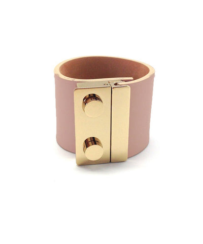 house-Boinet-Cuff-in-leather-clasp-metal-pink