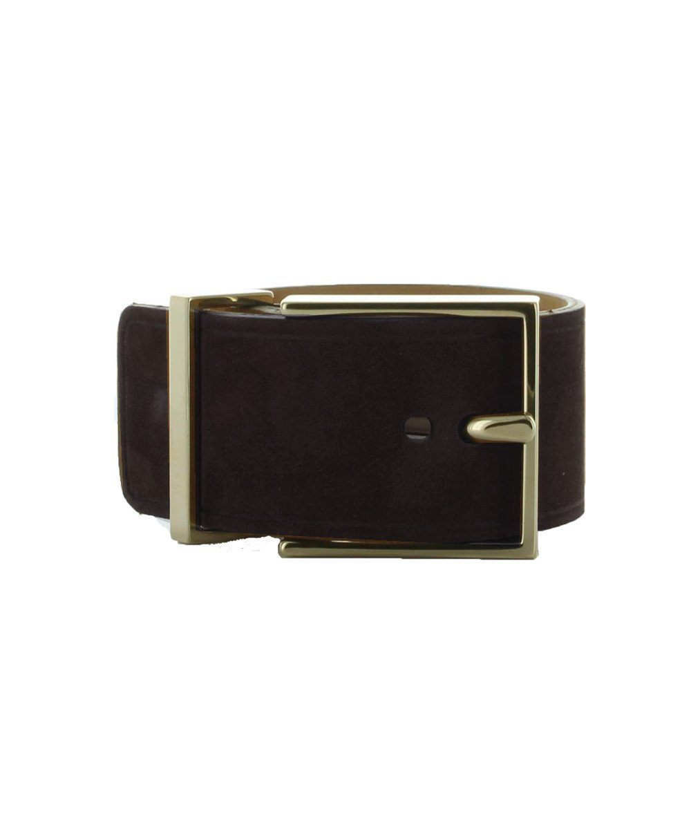 Navy leather cuff bracelet and belt buckle - Maison Boinet