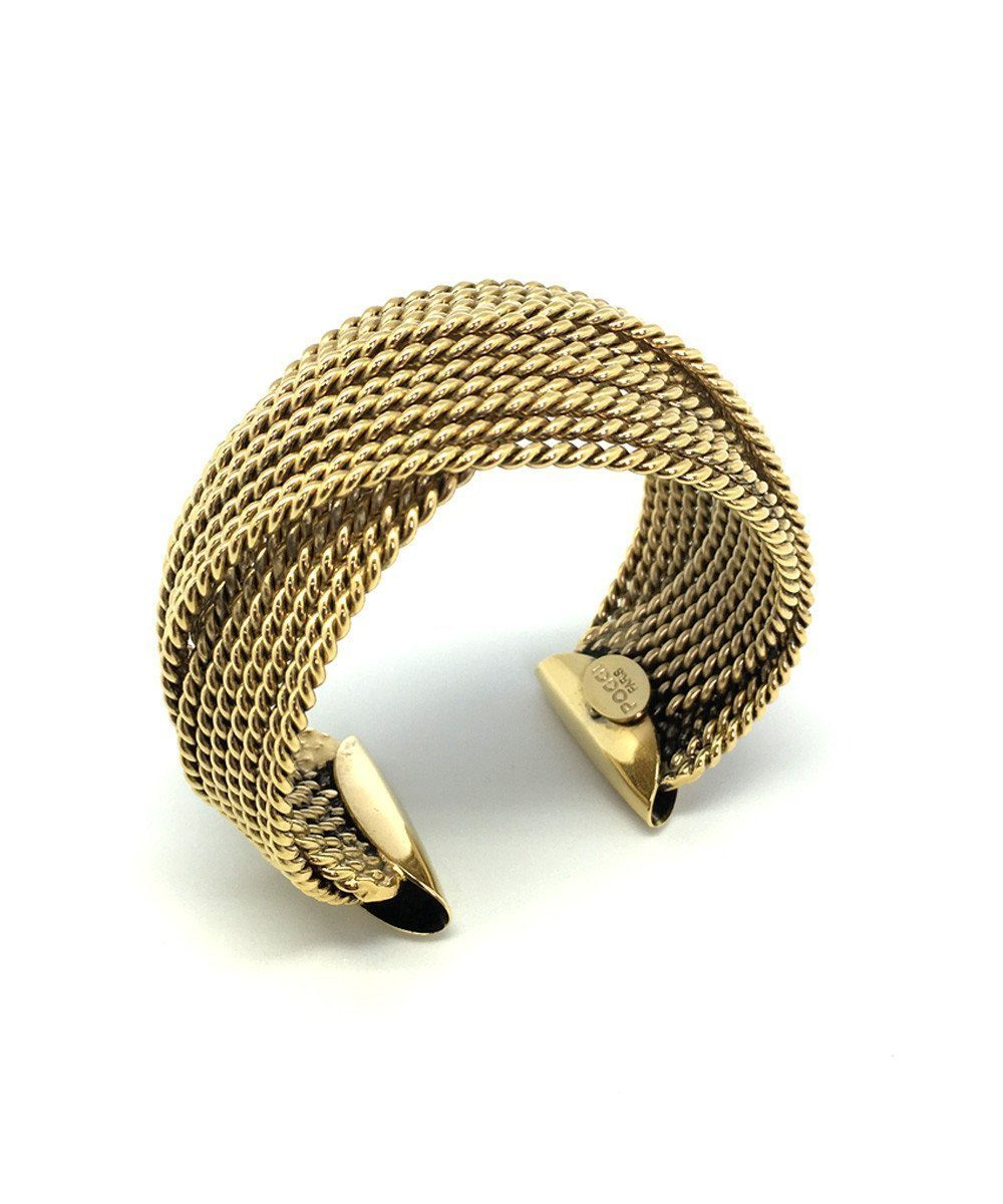 Braided cuff bracelet Art B80 gold - Poggi