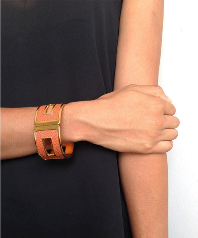 womens bhome leather strap worn