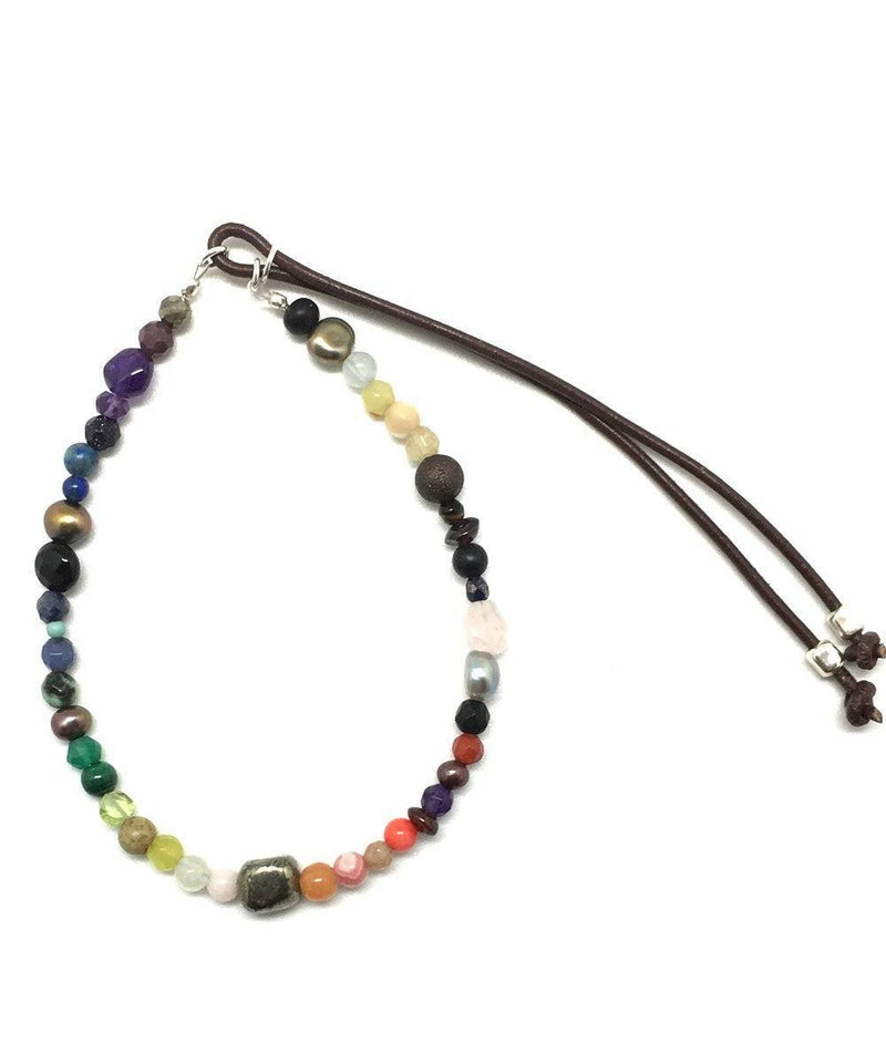 Stardust bracelet Magic rainbow hard stones and pyrite Stardust - Catherine Michiels